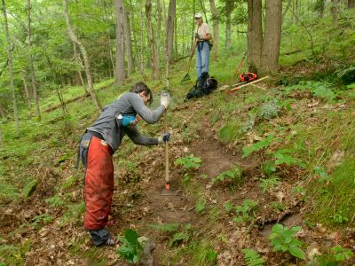 Slate Valley Trails Work Day at Howe Will