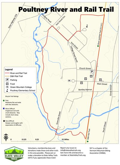 Poultney River and Rail Trail Map