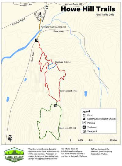 Howe Hill Trail Map