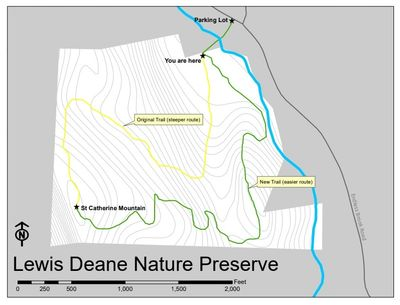 Lewis Deane Nature Preserve Map