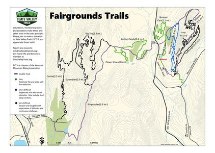 Placeholder Map of the Fairground Trails.