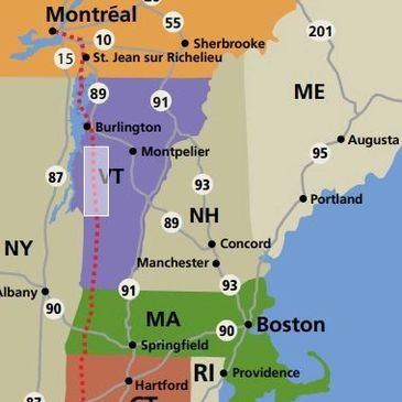 Map of Western New England Greenway