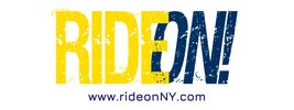 RideON! logo and website. Yellow and black