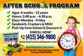 Daycare in San Francisco After School Program in San Francisco Daycare