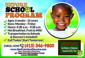 Daycare in San Francisco Before School Program in San Francisco Daycare
