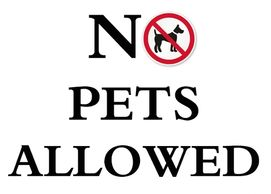 Please leave your pooch at home.  While practicing social distancing and  making the best use of our