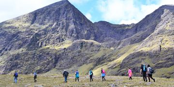 Guided walks to Carrauntoohil via Hags Glen Devil's Ladder O'Shea's Gully from Cronin's Yard