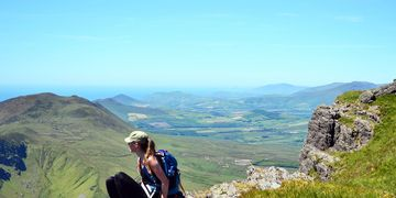 Slieve Mish Mountains Baurtregaum Caherconree guided walks in Dingle Peninsula Ireland with KMH