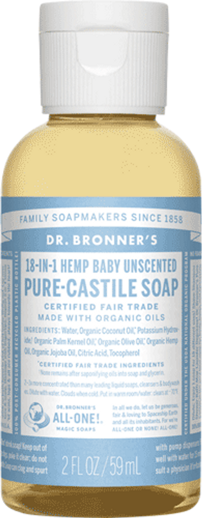 Baby soap we recommend.