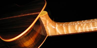 Sinker Brazilian Rosewood with Quilted maple one piece neck.