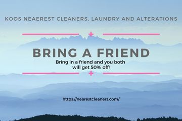 Koos Nearest Cleaners, Laundry and Alterations Coupons. Coupons in Los Angeles. Laundry Coupons.