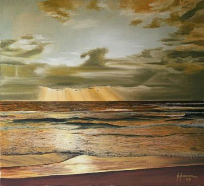 "Nelson Hammer's ""Sunset on the Ocean"", 1969"