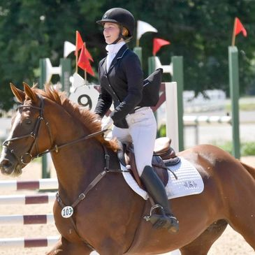Shannon O'Hatnick and her mare, River, performing at a 3 day event