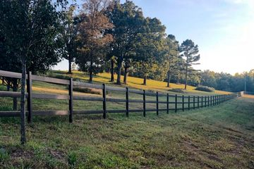 safety fencing in a horse pasture at Broad Hill Run Farm, LLC