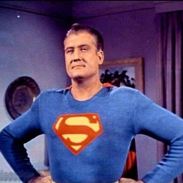 George Reeves first Superman of television. Adventures of Superman, superman on tv, super museum
