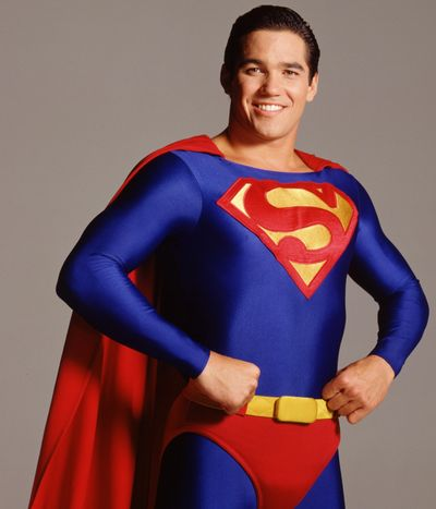 "Dean Cain as Superman in the show ""Lois and Clark the New Adventures of Superman"""