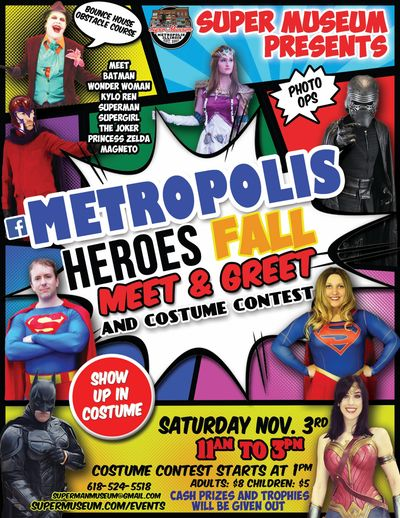 Super Museum Presents: Metropolis Illinois Fall Meet & Greet and Costume Contest