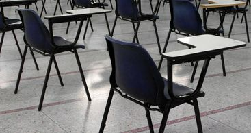 Exam hall chairs