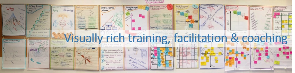 Visually rich training, facilitation, coaching, meetings, business to business, sales,