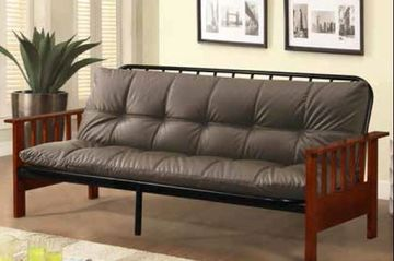 Wood and Metal Mission Style Futon Frame