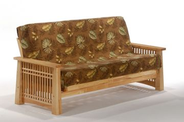 Night and Day Solstice Futon Frame - natural oak Finish