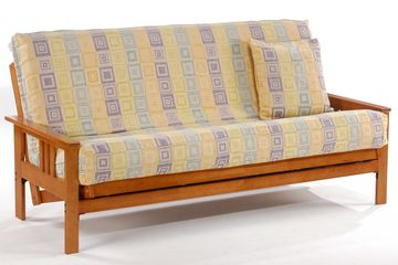 Anchor Monterey Futon Frame - Available in Cherry, Chocolate, and Honey Oak Finishes