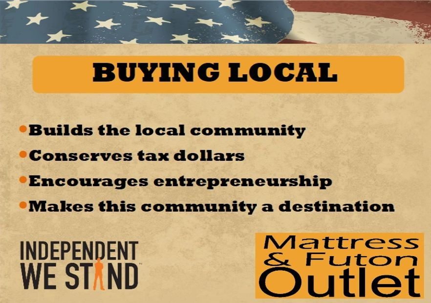 Buying local supports your local economy