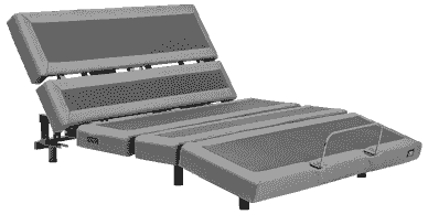 Mattress and Futon Outlet - Mantua Rize Contemporary III Adjustable Power Base in incline position