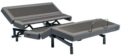 Mantua Rize Contemporary III Adjustable Power Base in lounge position with lumbar support