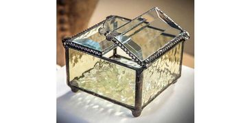 j. devlin, glass keepsake boxes, glass ornaments, glass suncatchers, glass frames