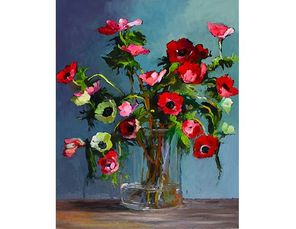joanna m. wezyk, oil painting, floral, polish artist, nj artist, local artist