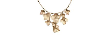 botanical jewelry, hydrangea jewelry, nature jewelry, silver seasons, michael michaud