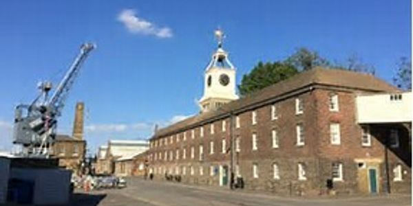 The Clocktower Ian Martin Gold Leaf Gilded at HM Chatham Dockyard
