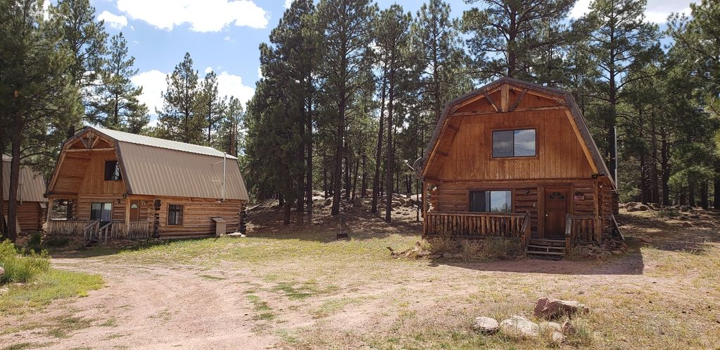 Z Lazy B Guest Ranch Mountain Retreat two cabins sitting in the forest