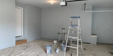 Interior Painting of Garage in Commerce Michigan