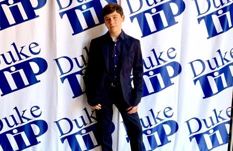 Rodrigo at the Duke TIP Recognition Ceremony