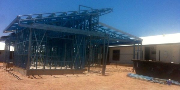Welding and Fabricating Darwin. Roof trusses installed  and site welding Muirhead NT