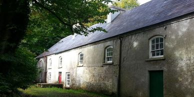 This is the back of the carriage house located on the estate of THE HALL in Mt. Charles, Ireland