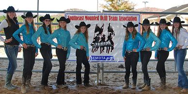 Southeast Mounted Drill Team Association SEMDTA Competition Team - Diamond D Varsity Team