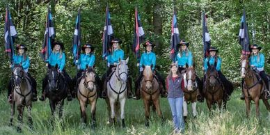 Southeast Mounted Drill Team Association SEMDTA Competition Team - Sass 'N Saddles Drill Team
