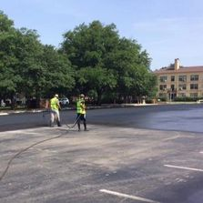 Seal Coating Asphalt, coal tar emulsion sealer, FAA approved sealer. asphalt sealing