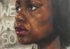 "We Are So Sorry.  Anita Hill.  60"" x 40""  oil on canvas"