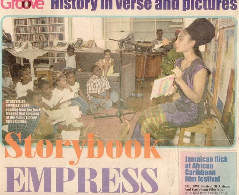 The book launch of Makeda & Solomon in Barbados, West Indies: 2003