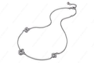 ELLE Jewelry Sterling Silver 3 Knot Hypoallergenic Fashion Necklace