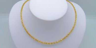 14K Gold Diamond Cut Rope Chain