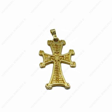 14K Gold Armenian Cross