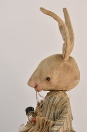 Primitive rabbits, known as OTBP Hoppers,are a favorite of collectors.