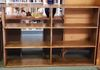 Double wide solid wood book case $200