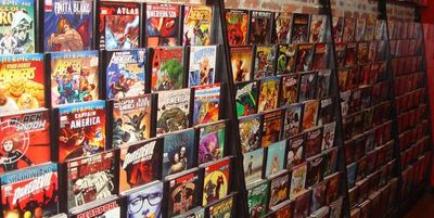 Comic books, new comic books, comic book shops.