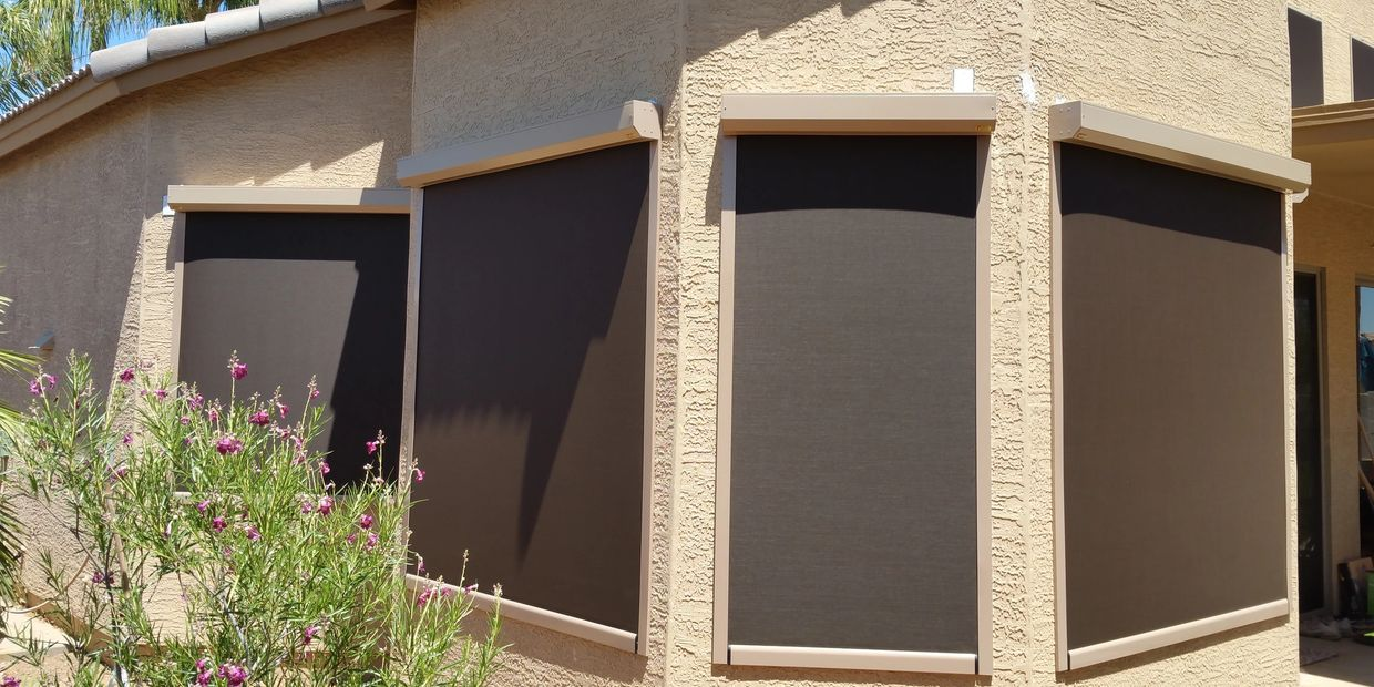 Patio Zipper Screens / Mounted on Windows